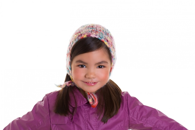 Asian child kid girl winter portrait