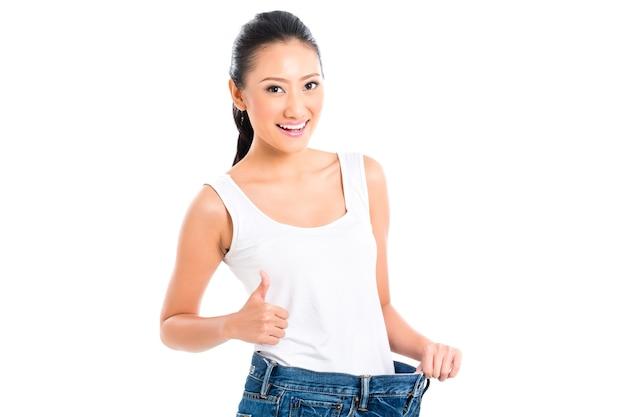 다이어트와 체중 감량 아시아 중국 여자