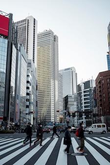 アジアの国の人々の都市景観