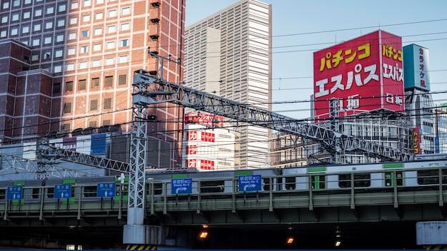 Азиатская страна знак городской пейзаж
