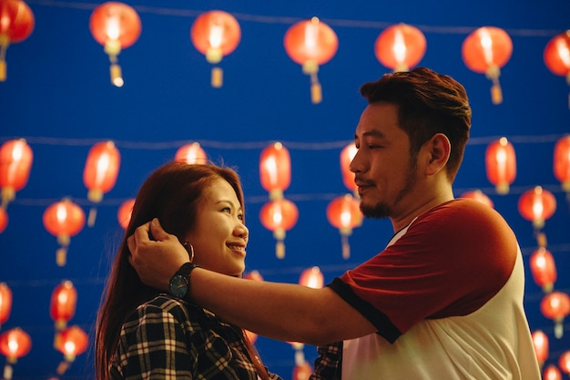Asian couple at chinese fastival