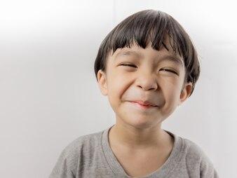 Asian cute kid girl smiling