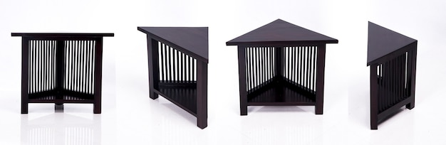 Asian design wooden table made of wood