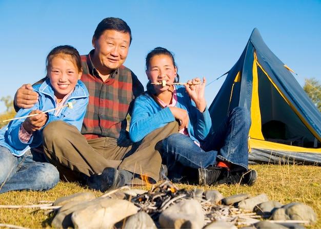 Asian family.