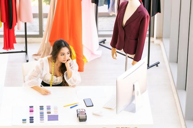 アジアのファッションデザイナーのスケッチ