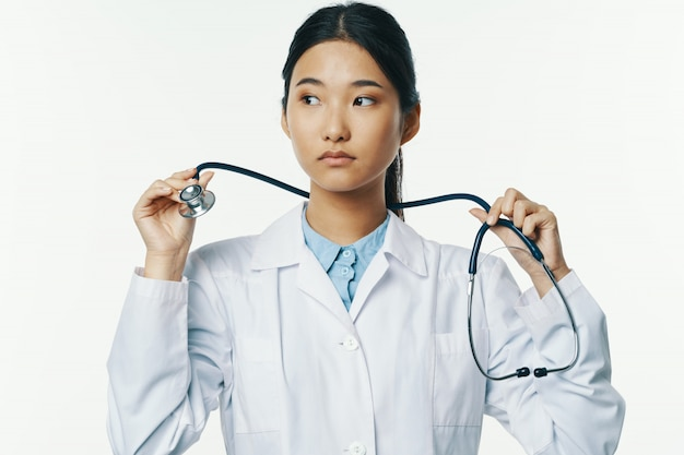 Asian female doctor flu and virus in china, coronavirus 2019-ncov