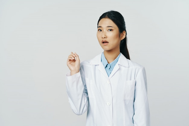 Asian female doctor flu and virus in china