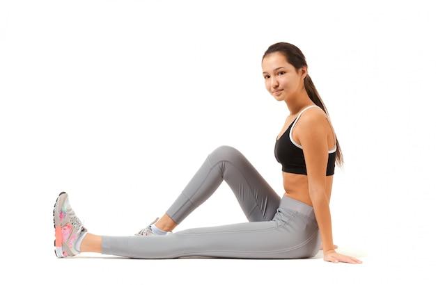 Asian fitness woman