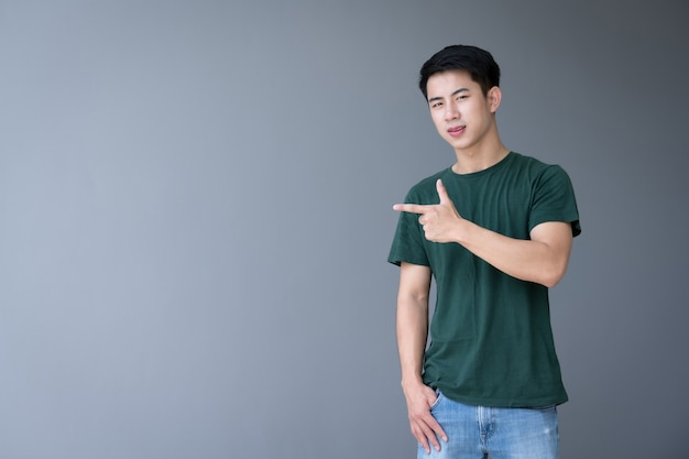 Asian handsome young man
