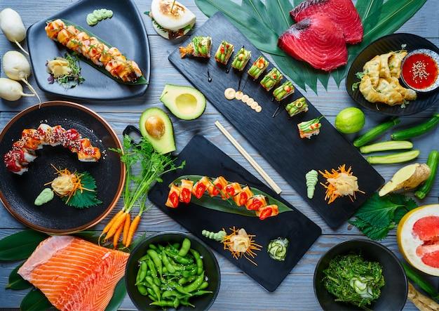 Asian japan sushi varied recipes with algae
