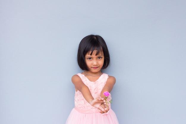 Asian kid face close up