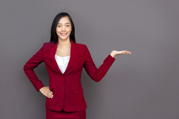Asian lady with business uniform suite