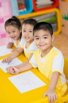 Asian little children