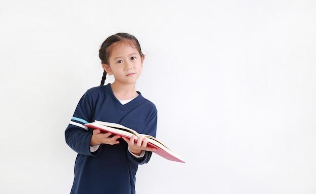 本を読んでアジアの少女