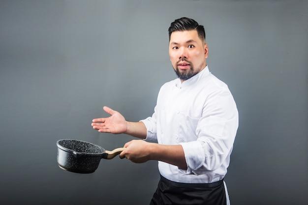 An asian male cheff