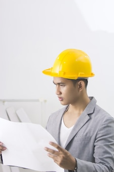 Asian male site contractor