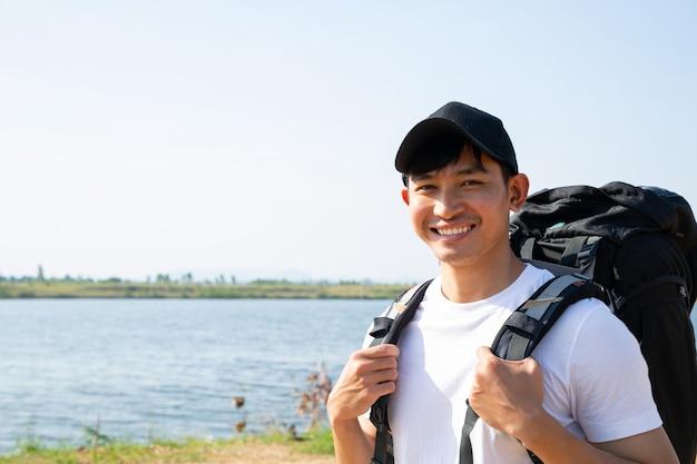 Азиатский мужской рюкзак для путешествий в дикой природе. тайский образ жизни.