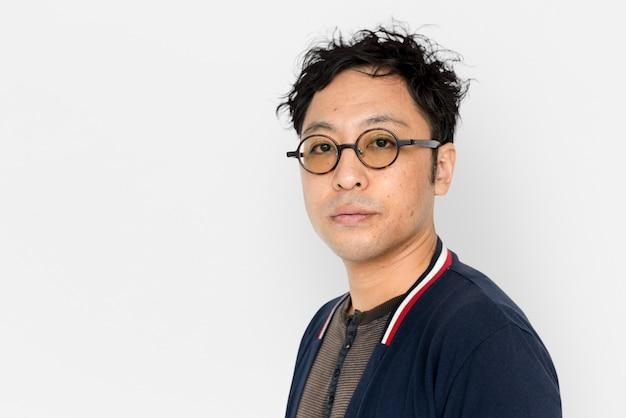 Asian man studio shoot lifestyle isolated
