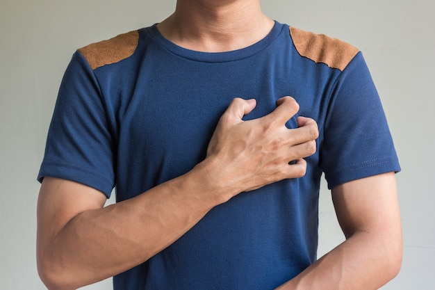 Asian men have chest pain