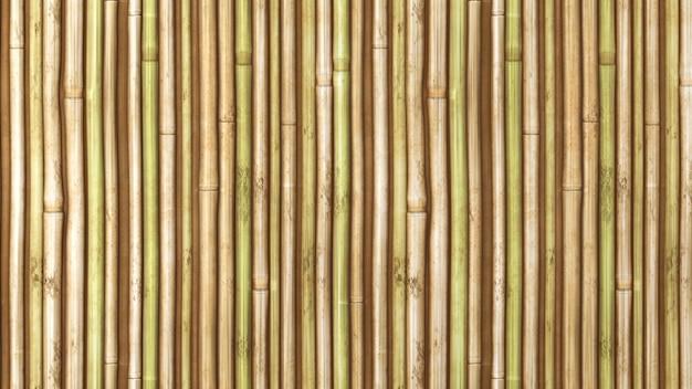 대나무 울타리 배경의 아시아 주제