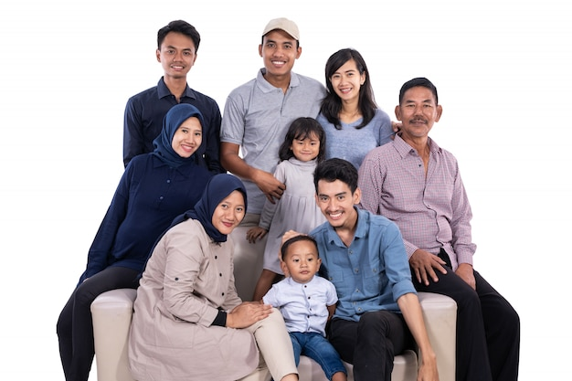 Asian muslim family eid mubarak ramadan kareem