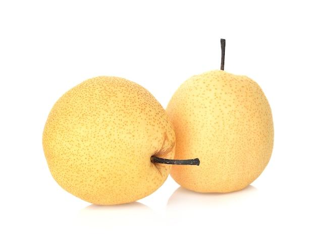 Asian-pear fruit on white background