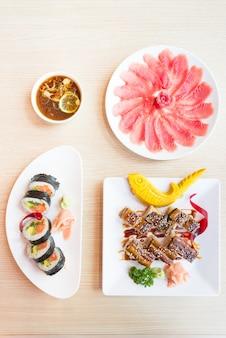 Asian rice japanese background raw