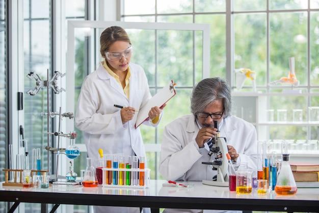 Asian scientist teamwork working in laboratory scientist