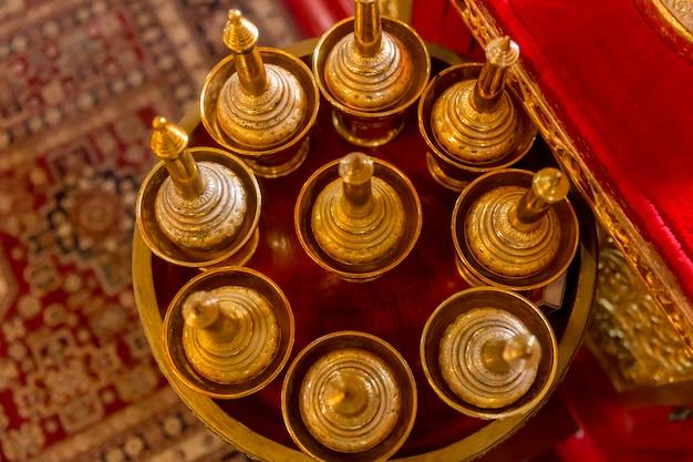 Asian small brass vase
