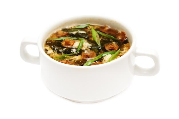 白のアジアンスープ
