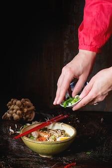 Asian soup ramen ready to eat