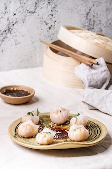 Asian steam dumplings