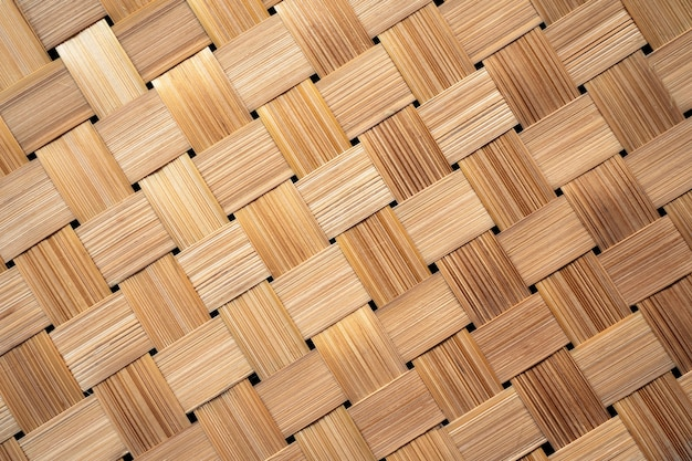 Asian style of bamboo weave pattern in diagonal dimension