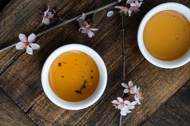 Asian style green tea concept