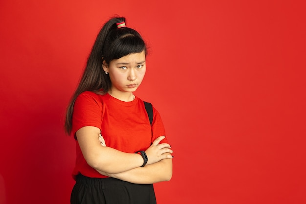 Asian teenager's portrait isolated