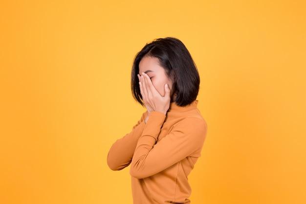 Asian unhappy woman