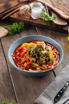 Asian uyghur cuisine dish, suiru lagman noodles