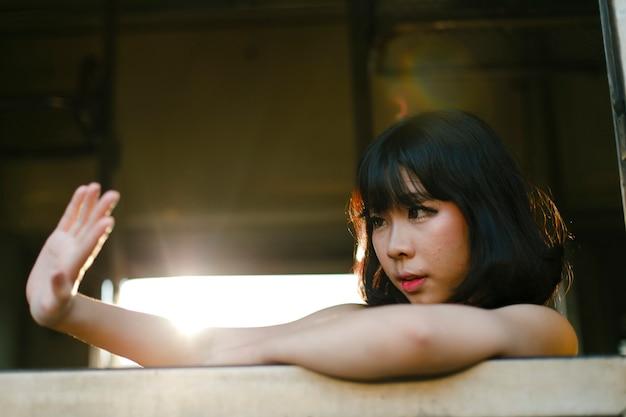 Asian woman fashion shoot
