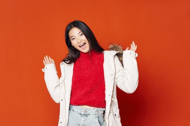 Asian woman posing model