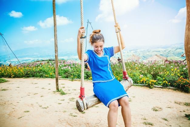 아시아 여자 여행 수면 휴식