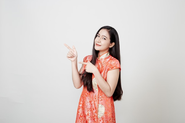 Asian woman wearing chinese traditional dress