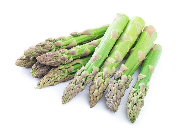 Asparagus on the white surface