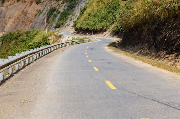 Asphalt mountain road