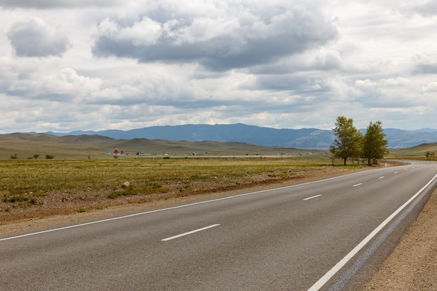 Asphalt road ulan-ude - kyakhta