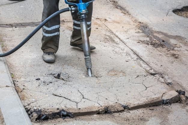 Asphalt road works