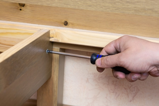 The assembly of wooden furniture