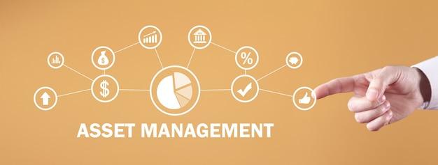 資産運用管理。テクノロジー。ビジネスコンセプト