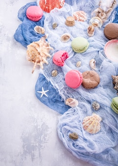 Assorted almond cookies macaroon