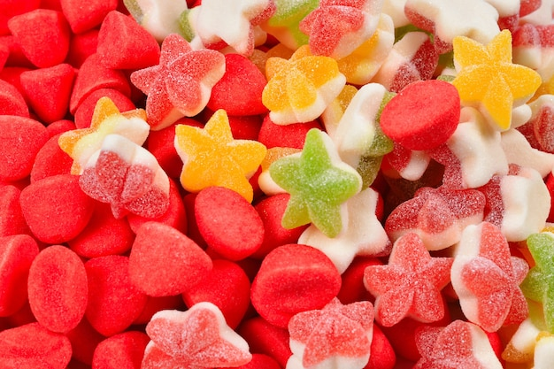 Assorted colorful gummy candies