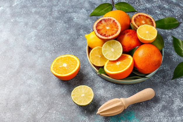 Assorted fresh-citrus fruits